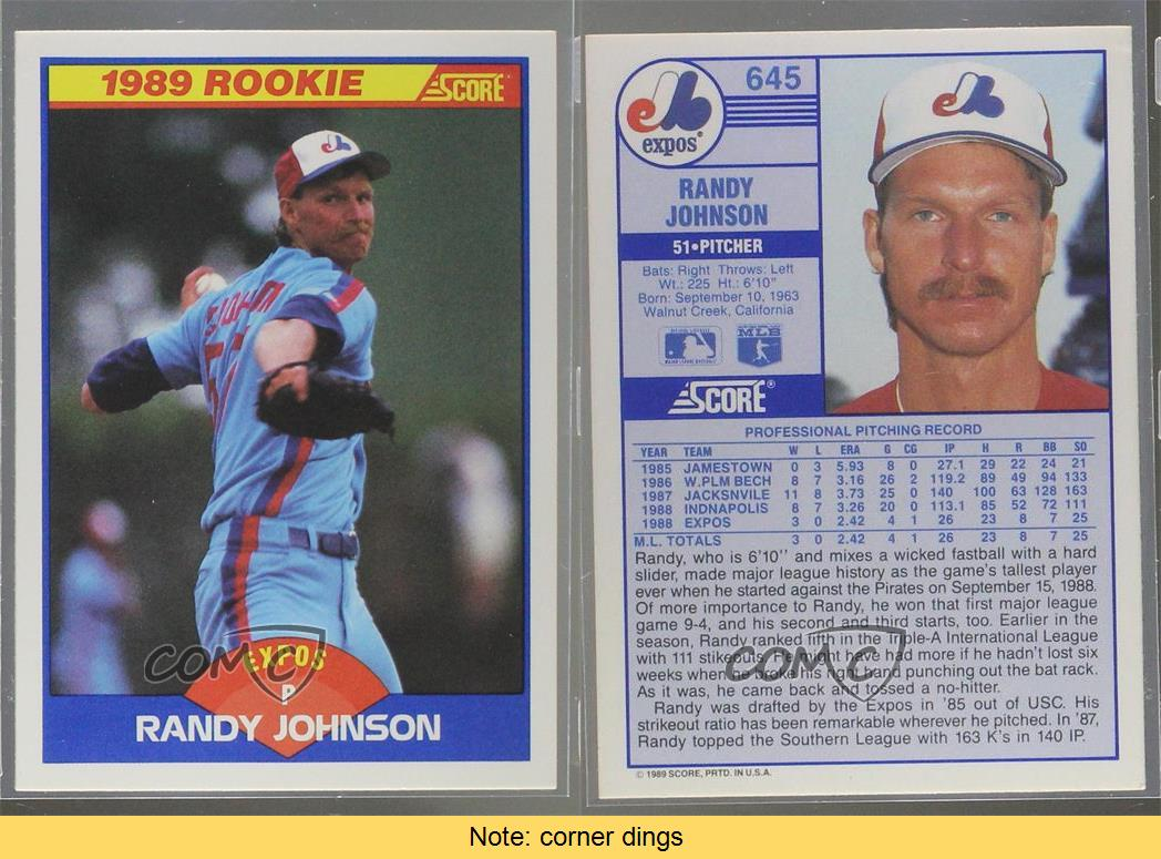 1989 Score Traded Randy Johnson Gem Mt Psa 10 Lot Of 5 Cards