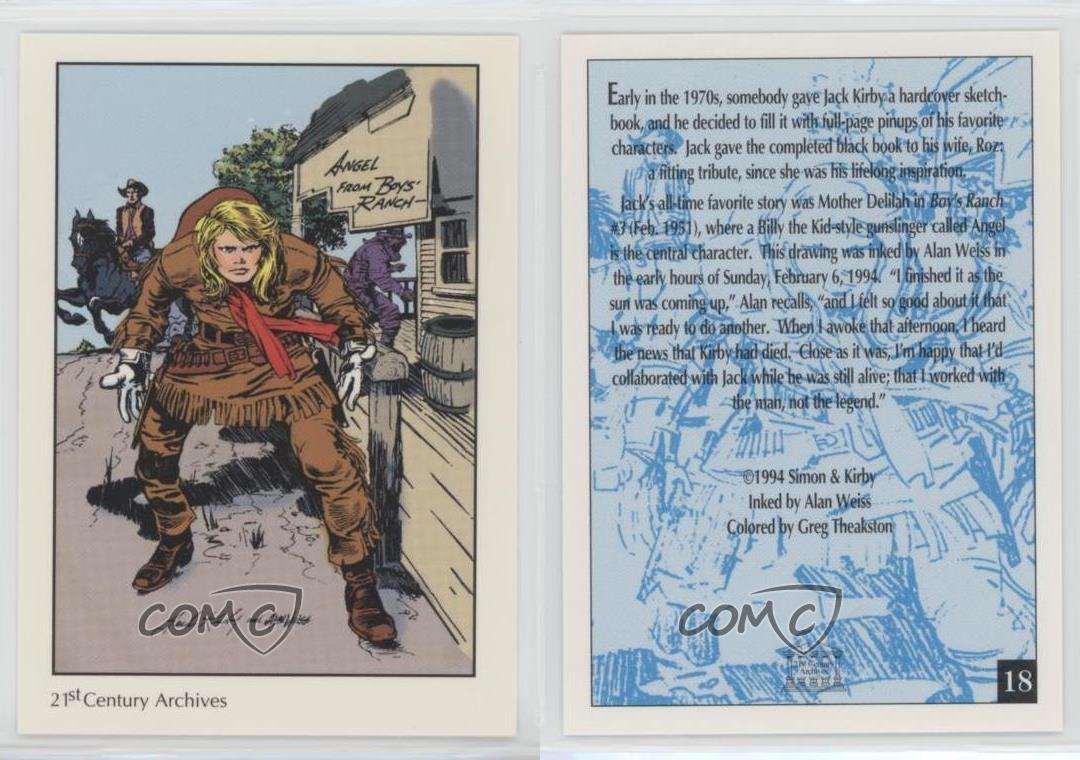 Details about  /1994 The Comic Art Tribute to Joe Simon and Jack Kirby #21 Bulls-Eye
