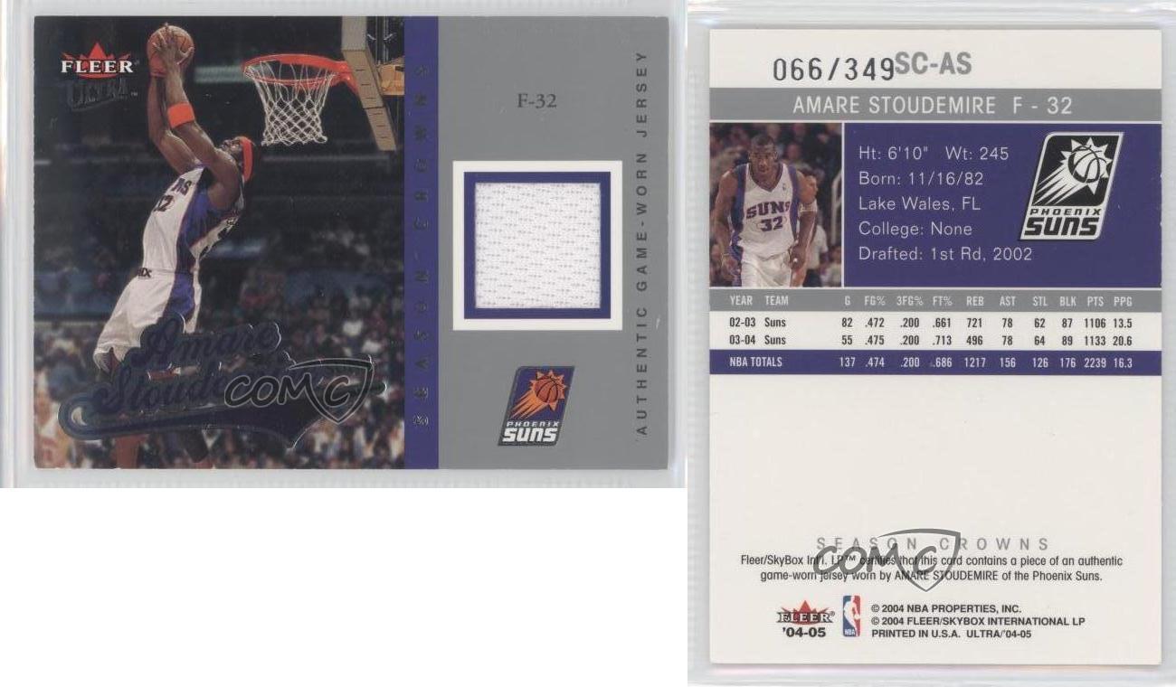 2004-Fleer-Ultra-Season-Crowns-Jersey-SC-AS-Amar-039-e-Stoudemire-Phoenix-Suns-Amare