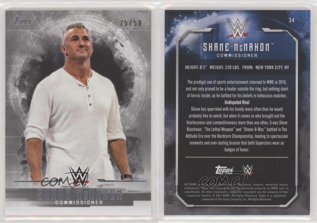 2017 Topps WWE Undisputed #34 Shane McMahon Wrestling Card