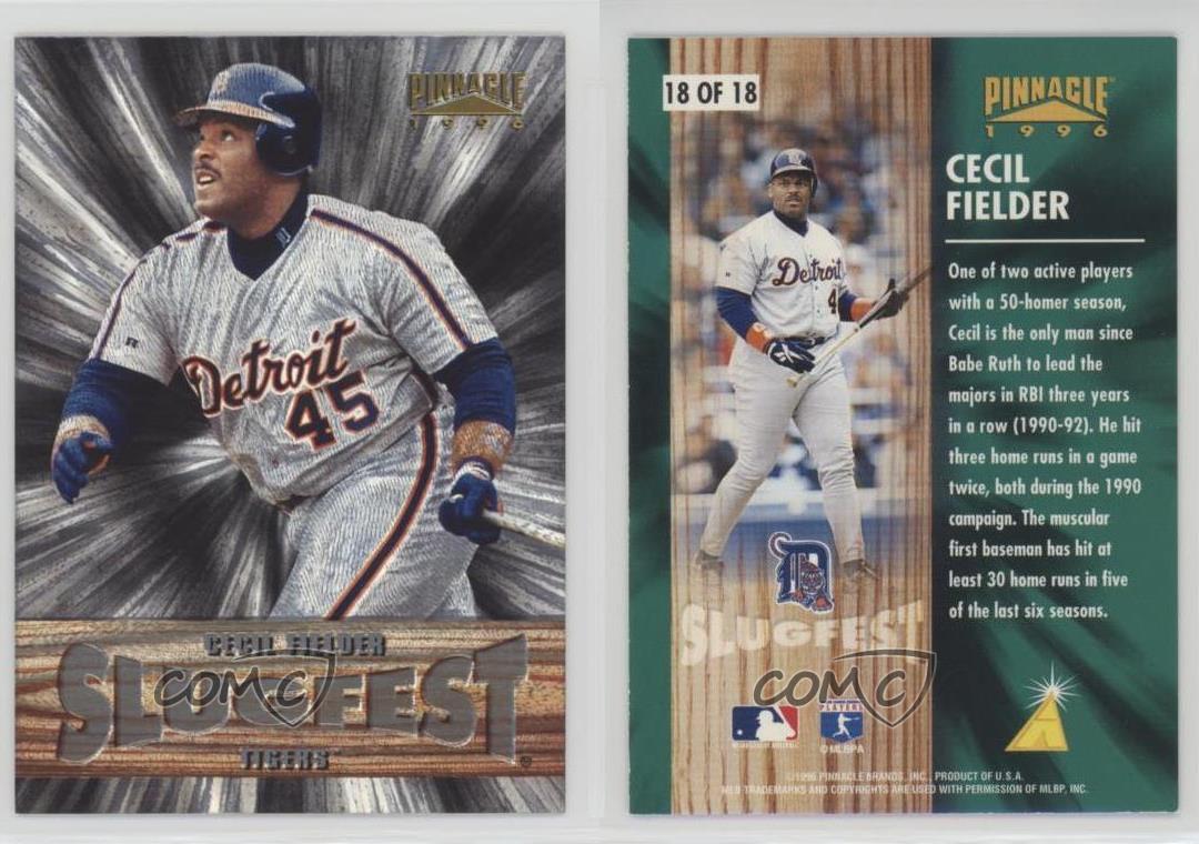 1996 Pinnacle Slugfest #18 Cecil Fielder Detroit Tigers Baseball Card