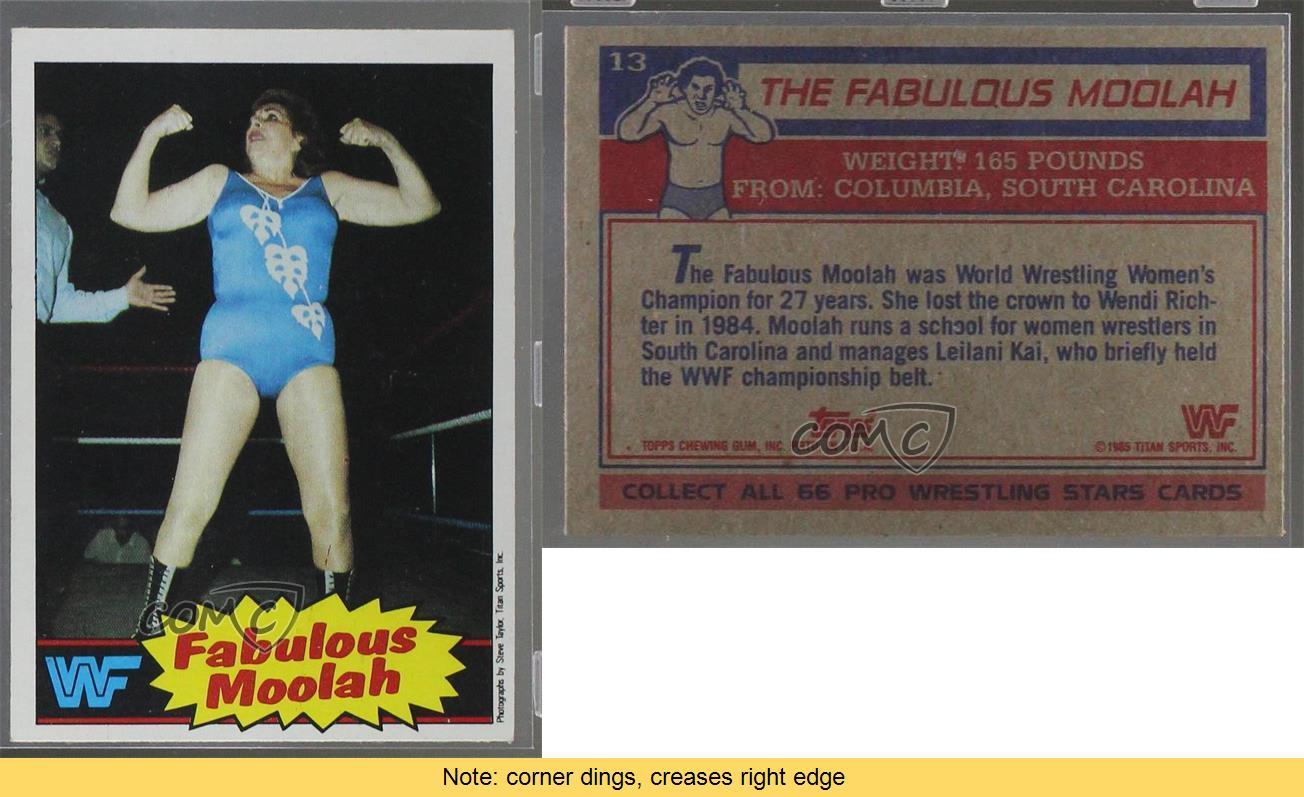 1985 Topps WWF #13 The Fabulous Moolah Wrestling Card | eBay