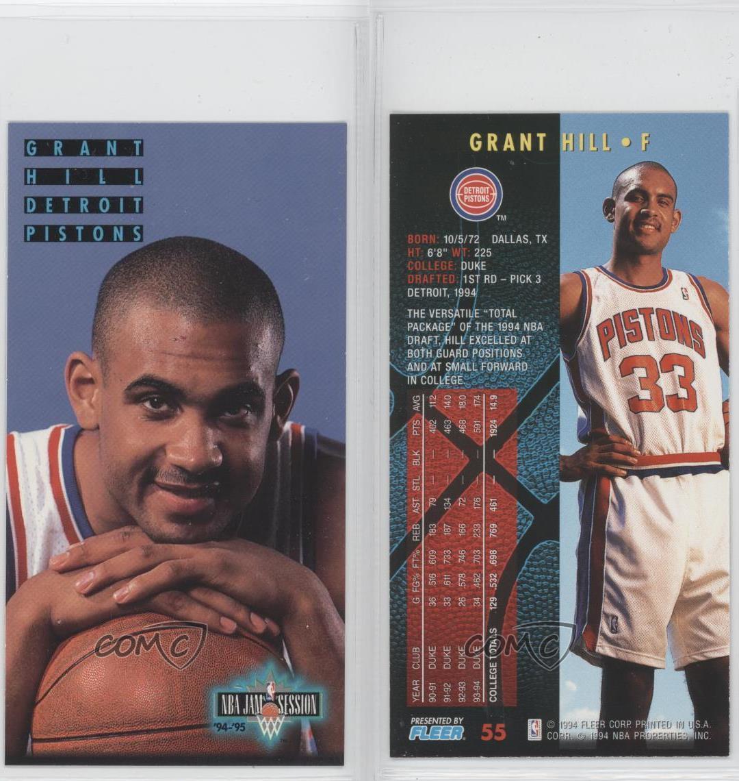1994 Fleer NBA Jam Session #55 Grant Hill Detroit Pistons