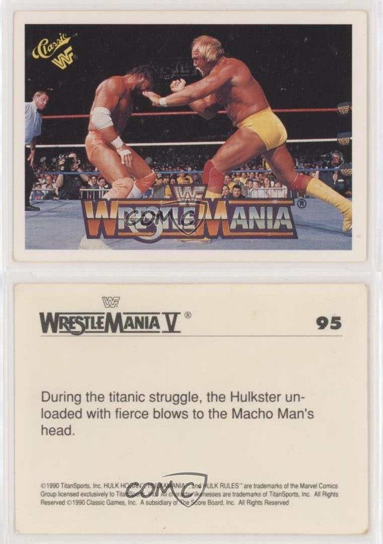 1990 Classic WWF Series 2: Wrestlemania Hulk Hogan Randy Savage V ...