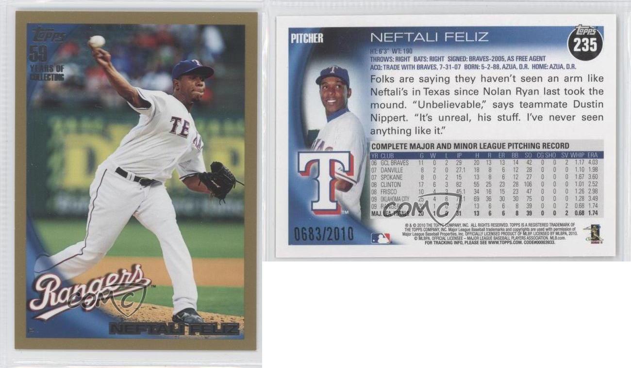 2010 Topps 206 #TA-NF Neftali Feliz Texas Rangers Auto Autographed Baseball Card