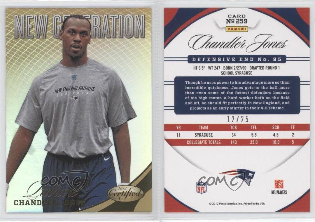 2012-Panini-Certified-Mirror-Gold-259-Chandler-Jones-New-England-Patriots-Card
