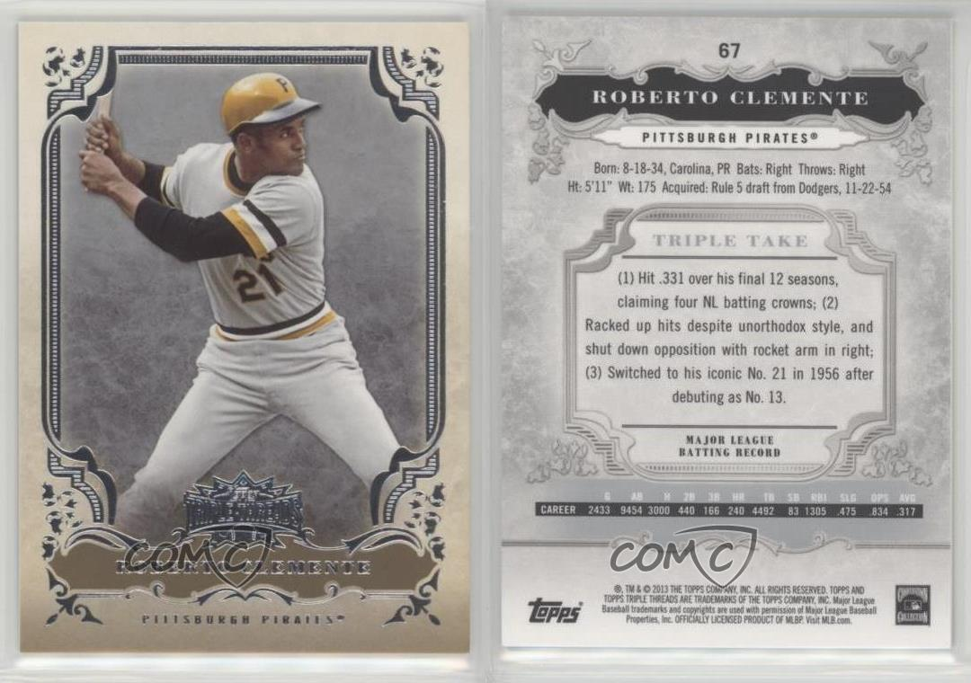 2013-Topps-Triple-Threads-67-Roberto-Clemente-Pittsburgh-Pirates-Baseball-Card