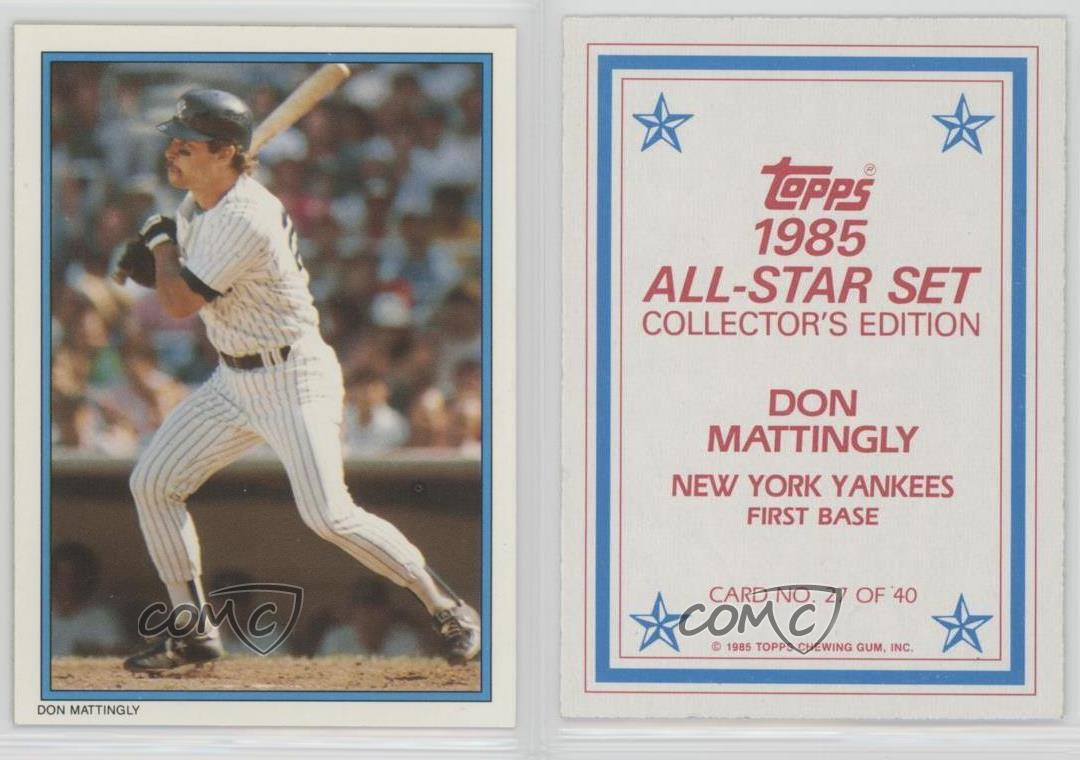 1985 Topps Mail In Glossy All Star Collector S Edition 27