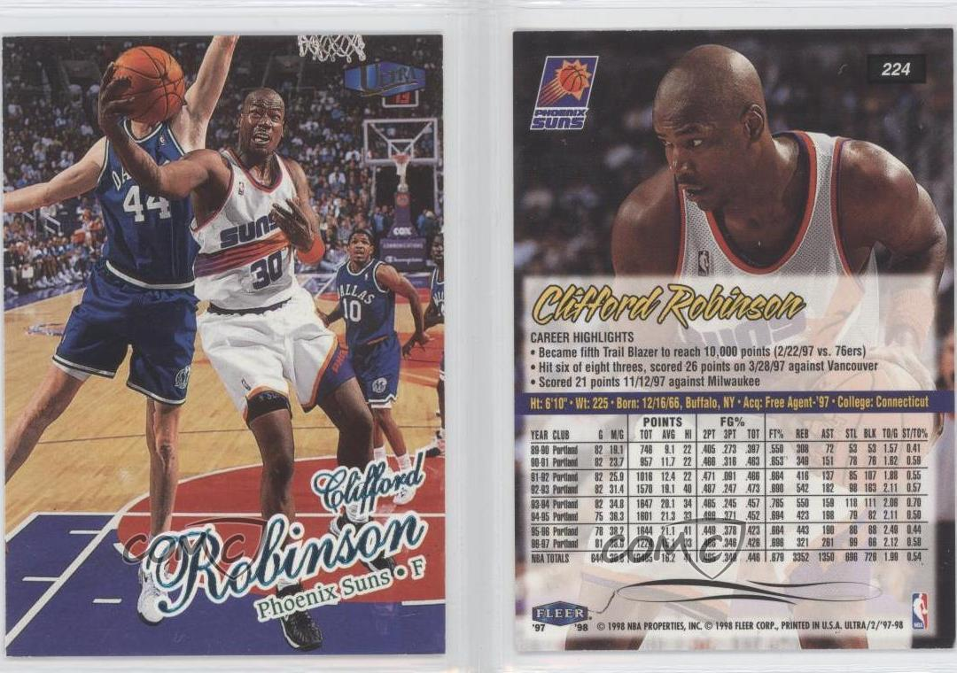 1997 98 Fleer Ultra 224 Clifford Robinson Phoenix Suns Basketball