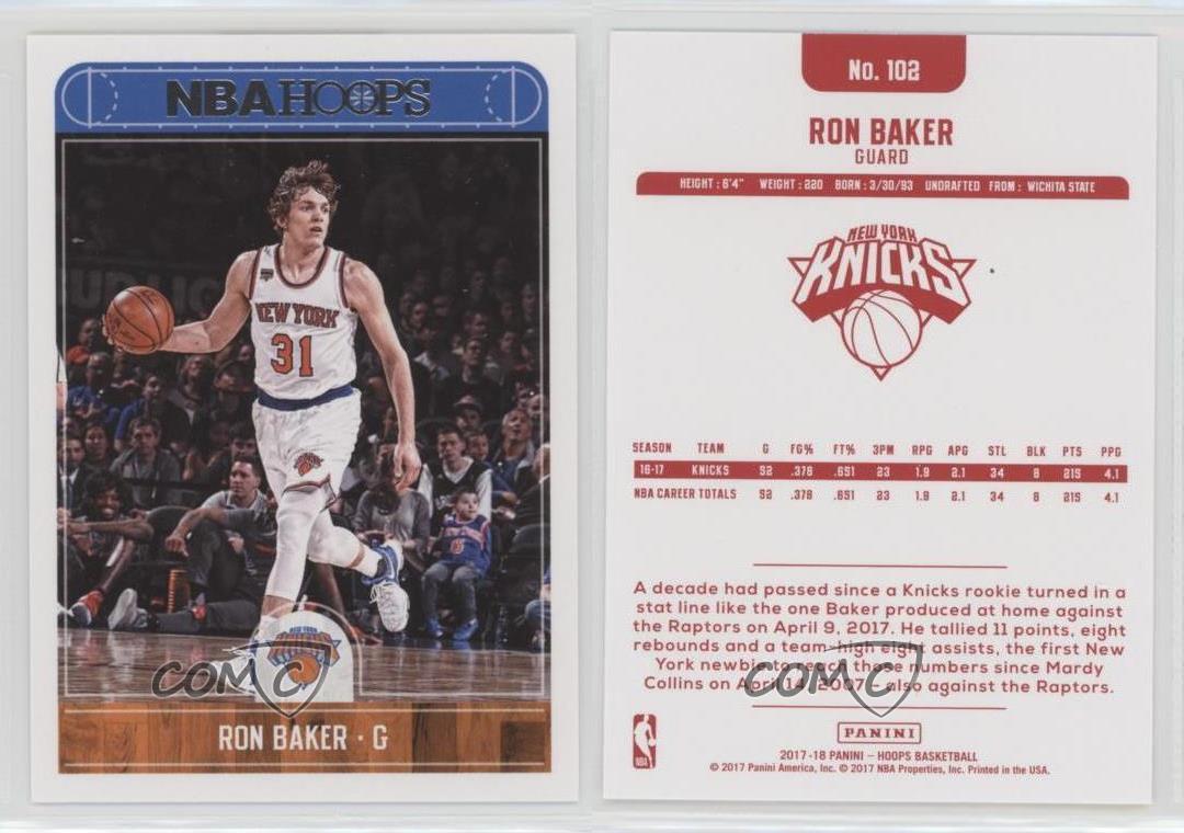 2017-18 Panini NBA Hoops Red Back Ron Baker #102   eBay