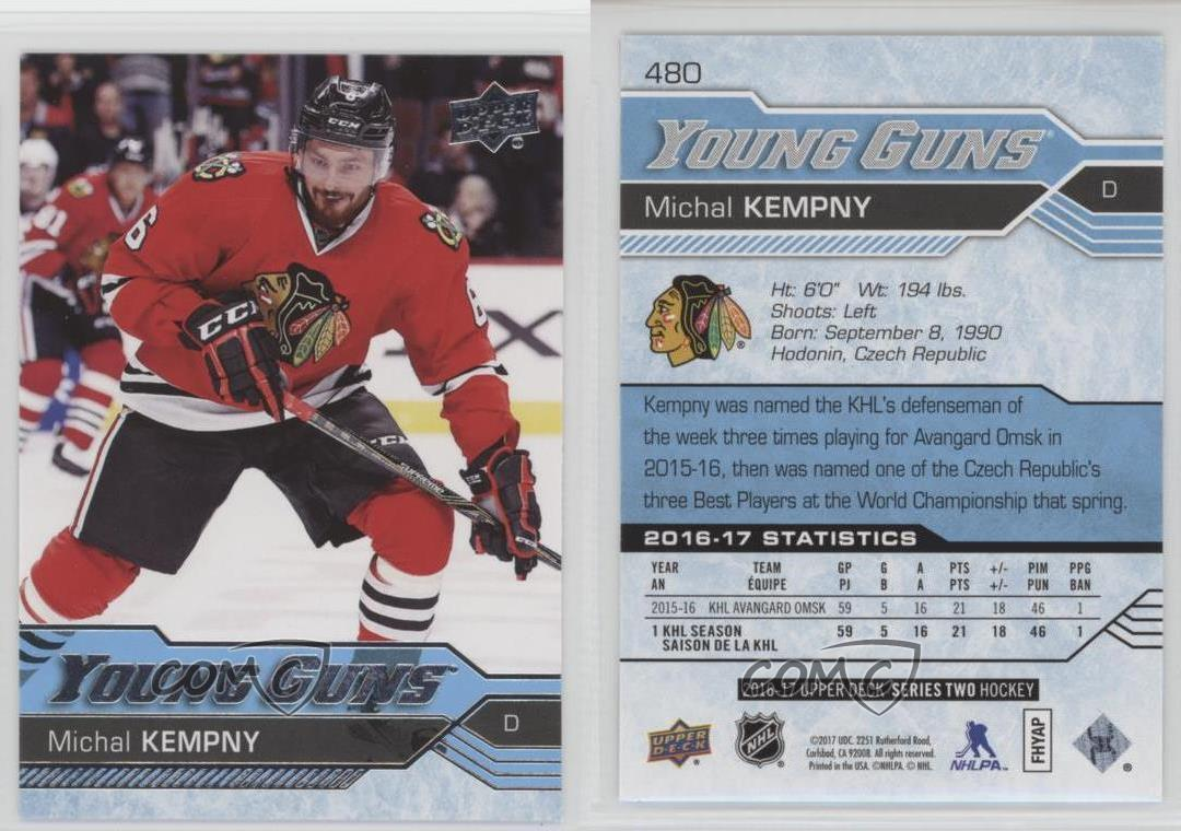 2016-Upper-Deck-480-Young-Guns-Michal-Kempny-Chicago-Blackhawks-RC-Hockey-Card