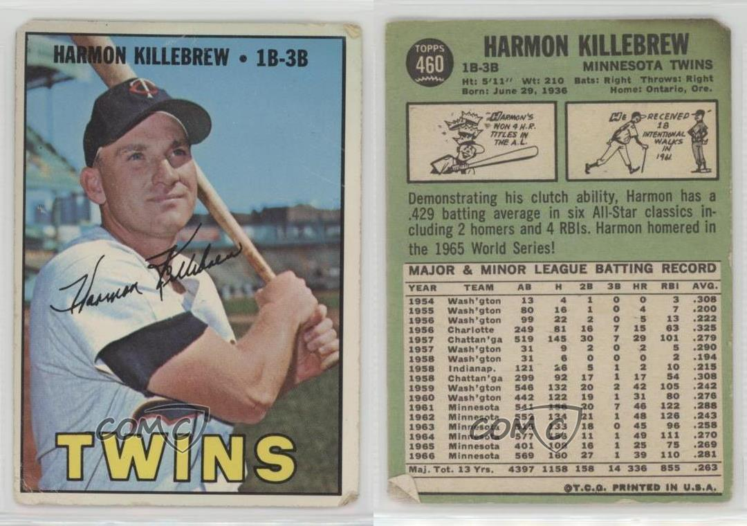 1967-Topps-460-Harmon-Killebrew-Minnesota-Twins-Baseball-Card