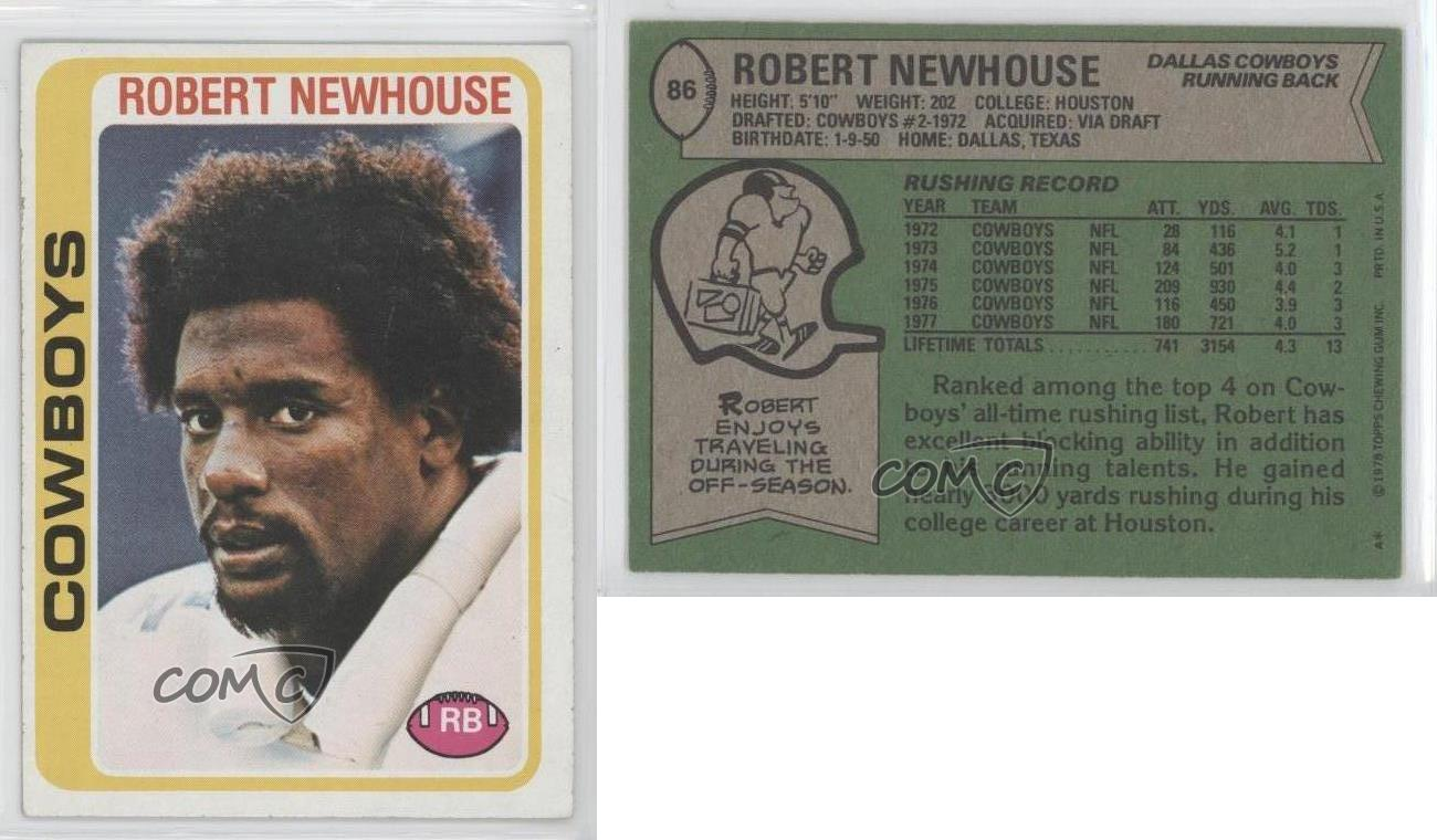 1978 topps 86 robert newhouse dallas cowboys football for Www newhouse com