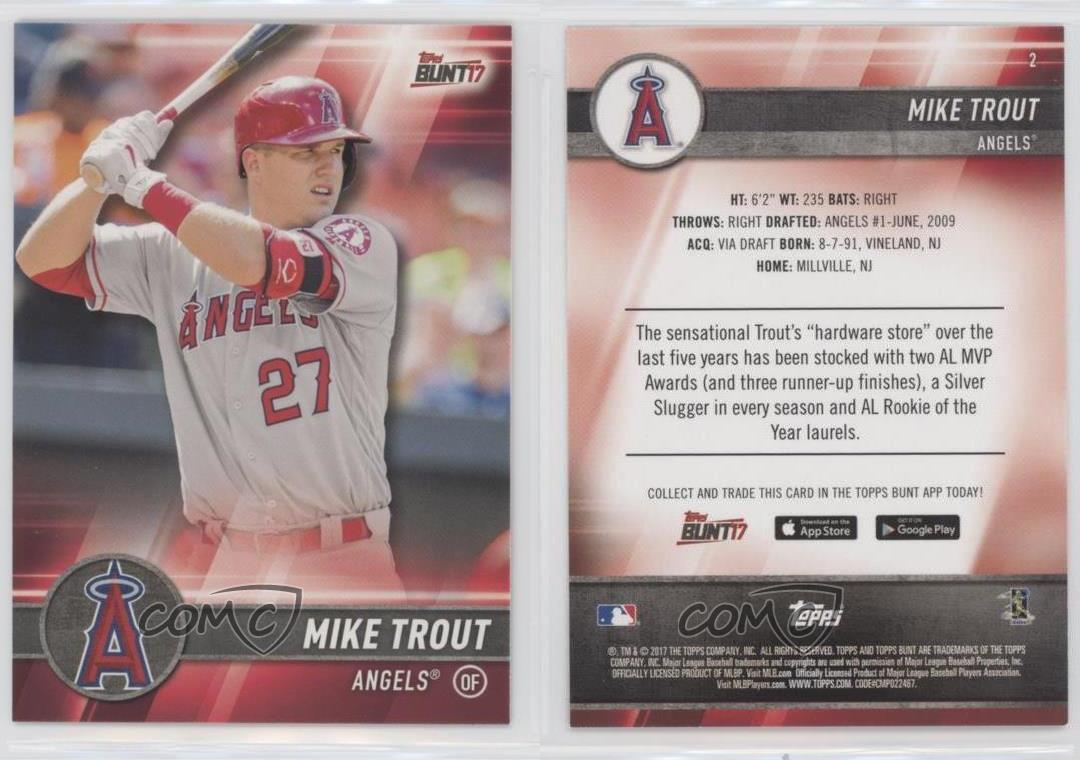2017 topps bunt 2 mike trout los angeles angels baseball card ebay 2017 topps bunt 2 mike trout los angeles sciox Gallery