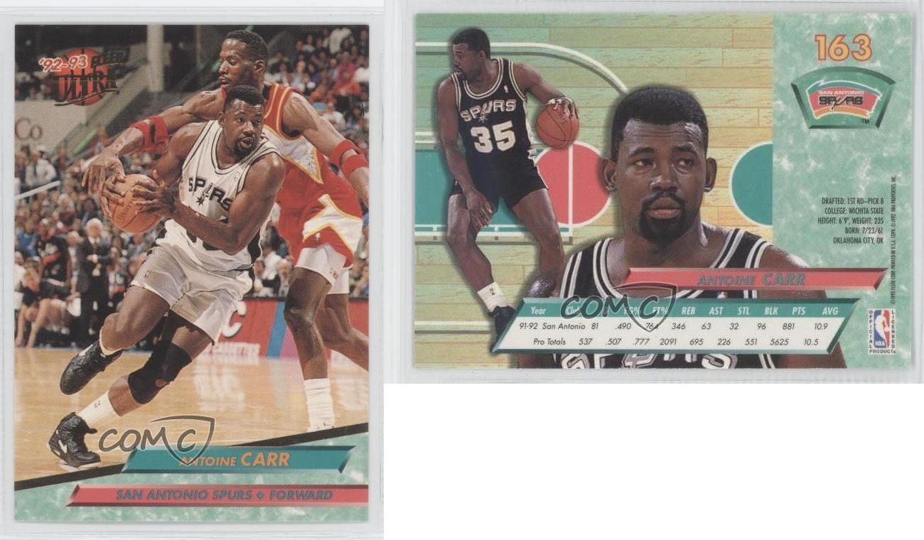 1992 93 Fleer Ultra 163 Antoine Carr San Antonio Spurs Basketball