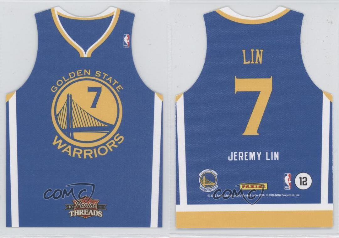 33500c5f48b rare jeremy lin golden state warriors jersey 80 brand new  2010 11 panini  threads rookie team away 12