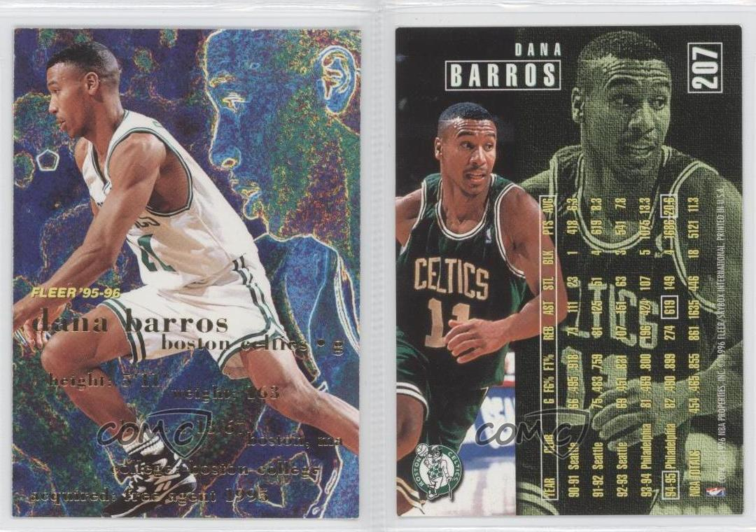 1995 96 Fleer 207 Dana Barros Boston Celtics Basketball Card