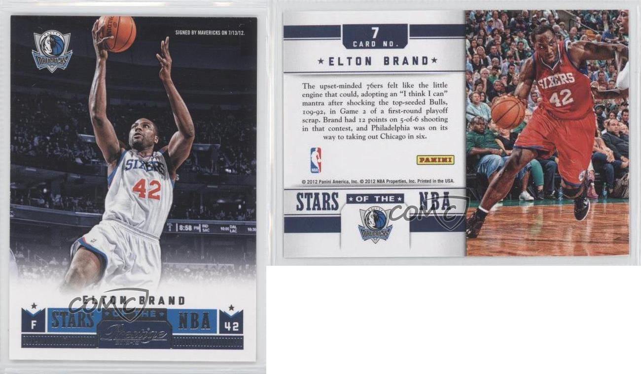 2012-13-Prestige-Stars-of-the-NBA-7-Elton-Brand-Dallas-Mavericks-Basketball-Card