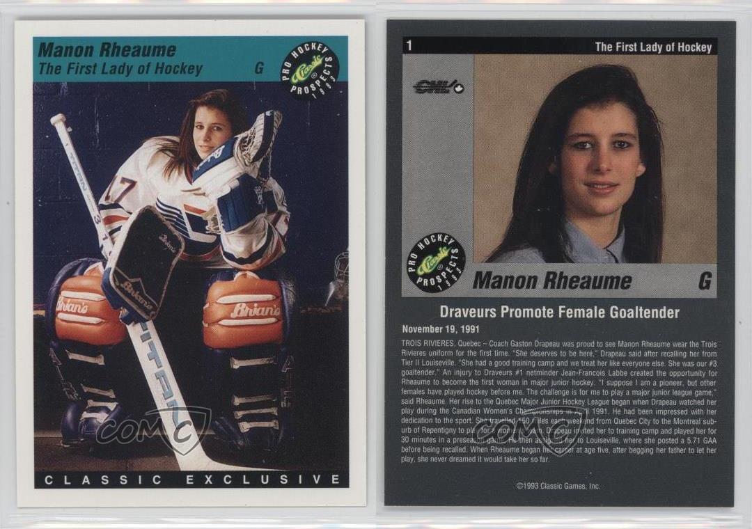 1993-94-Classic-Pro-Hockey-Prospects-1-Manon-Rheaume-Rookie-Card