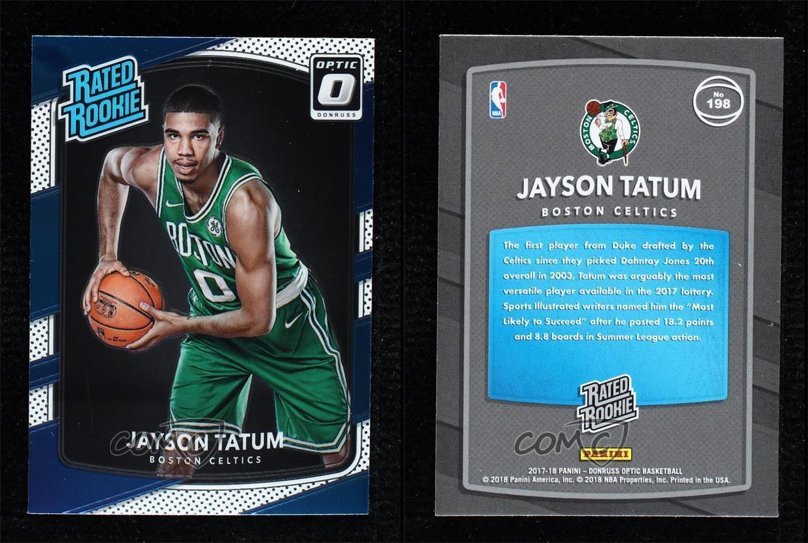 no.198 Jayson Tatum 2017-18 Donruss Optic Rookie Card