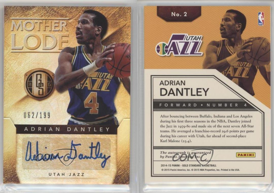 2014-15-Panini-Gold-Standard-Mother-Lode-2-Adrian-Dantley-Utah-Jazz-Auto-Card