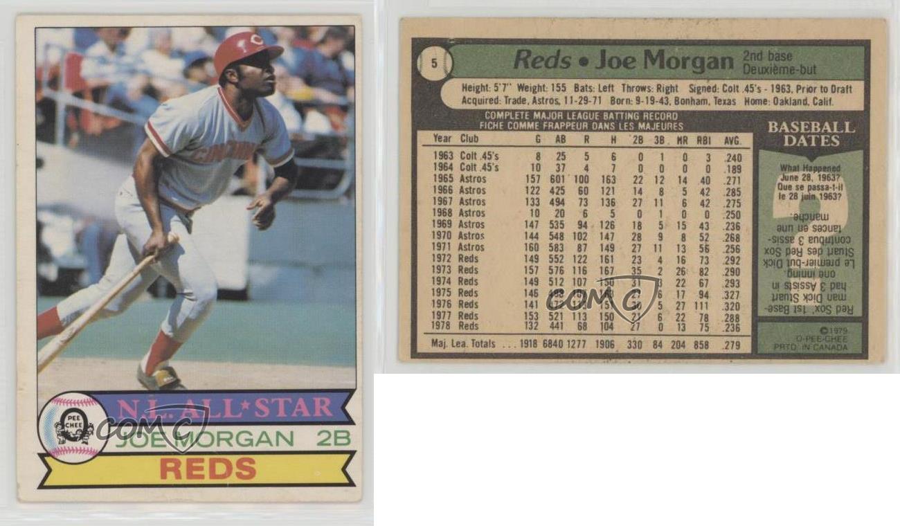 1979-O-Pee-Chee-5-Joe-Morgan-Cincinnati-Reds-Baseball-Card