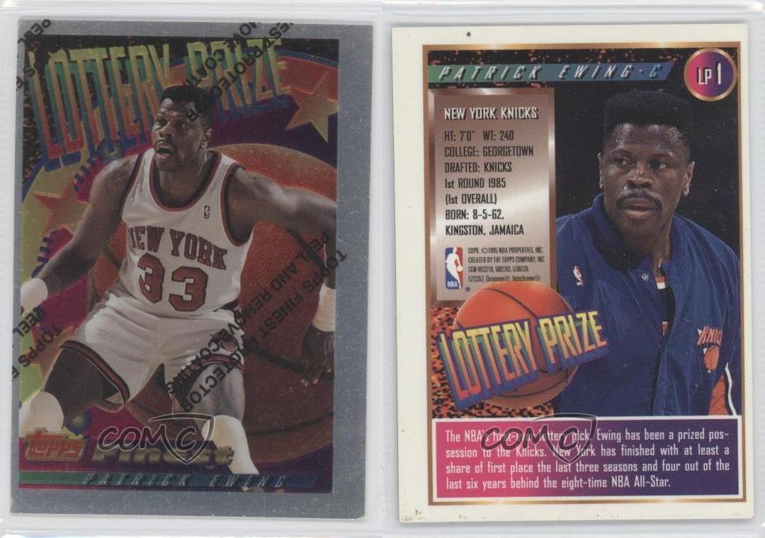 1994-95-Topps-Finest-Lottery-Prize-LP1-Patrick-Ewing-New-York-Knicks-Card