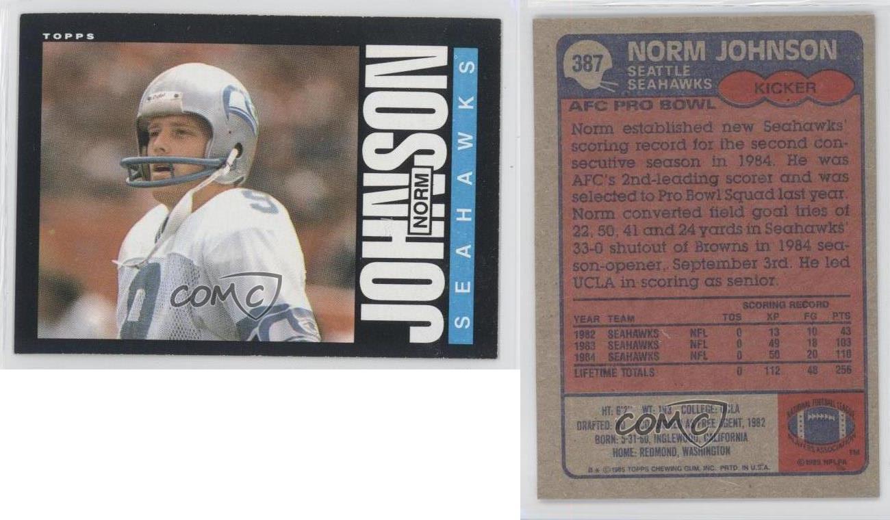Seattle Seahawks Football Cards - Vintage Football Card ...