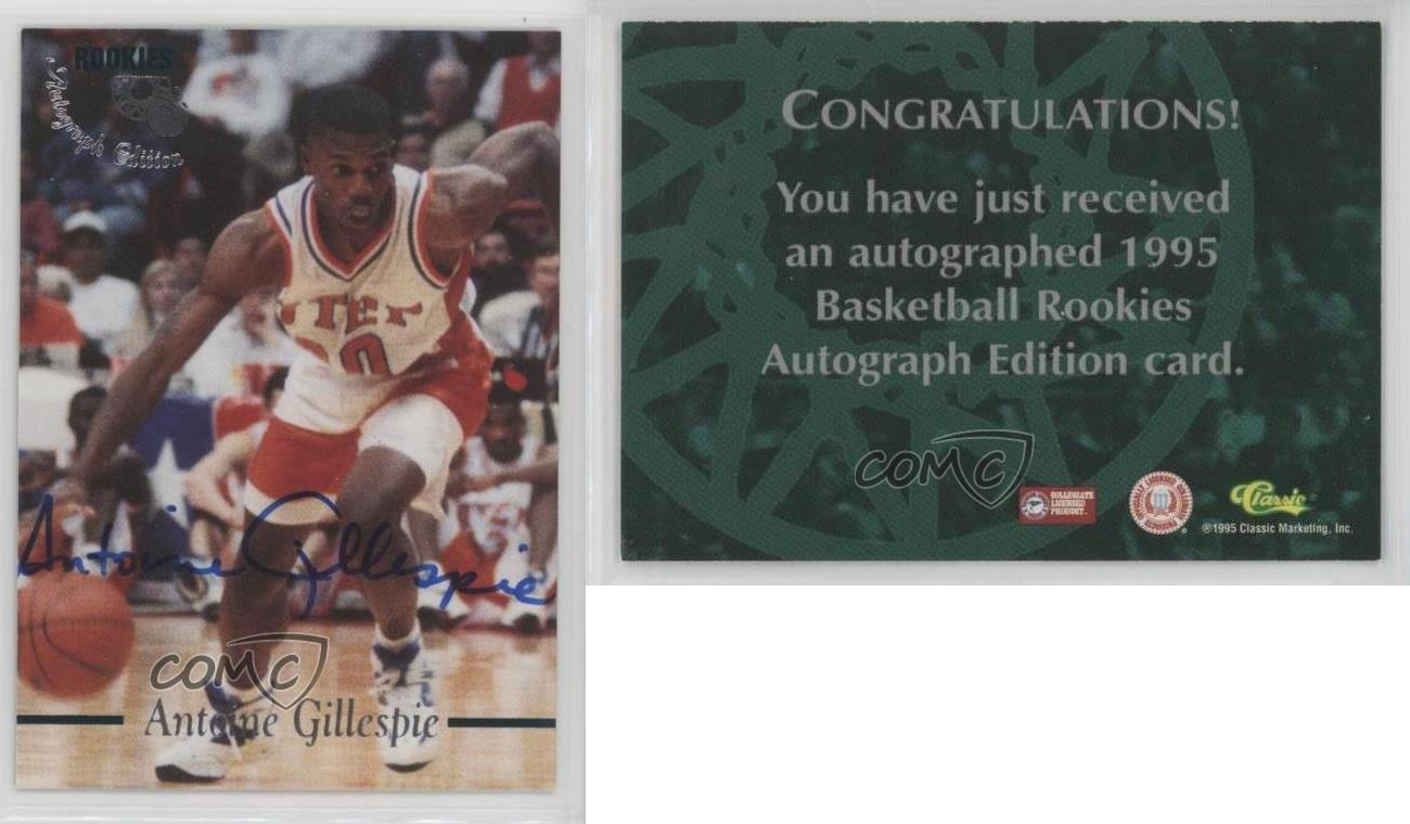 1995-96-Classic-Rookies-ANGI-Antoine-Gillespie-Auto-Autographed-Basketball-Card