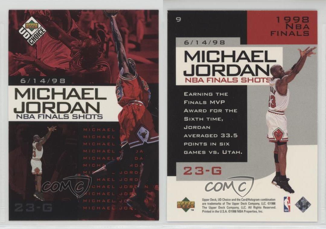 1998-99 Upper Deck UD Choice Preview NBA Finals Shots #9 ...
