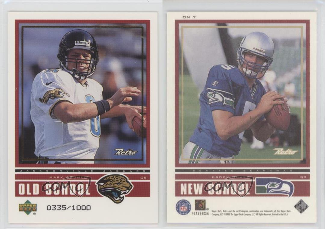 1999-Upper-Deck-Retro-Old-School-New-School-ON7-Brock-Huard-Mark-Brunell-Card