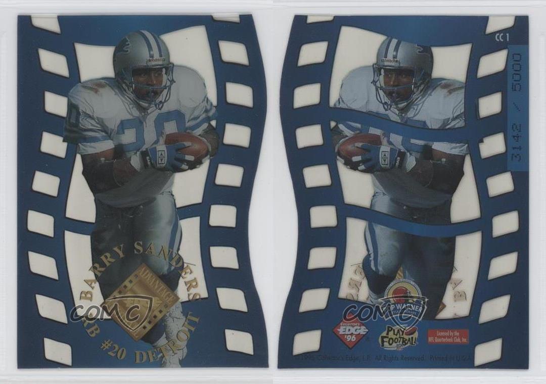 1996-Collector-039-s-Edge-Advantage-Crystal-Cuts-CC1-Barry-Sanders-Detroit-Lions