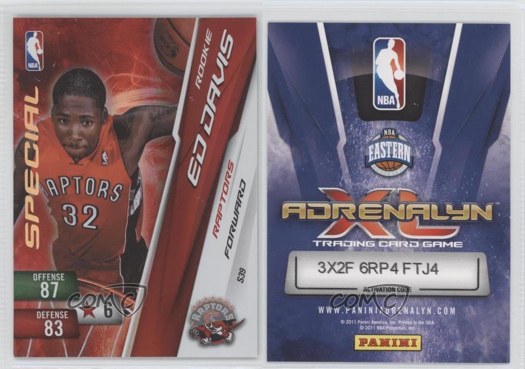 Panini NBA adrenalyn xl 2011-Ed Davis-special