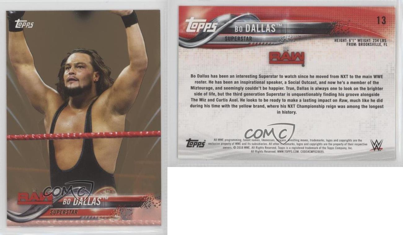 2018-Topps-WWE-Bronze-13-Bo-Dallas-Wrestling-Card