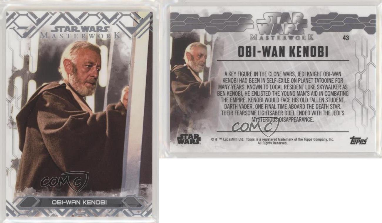 2017 Topps Star Wars Masterwork #43 Obi-Wan Kenobi