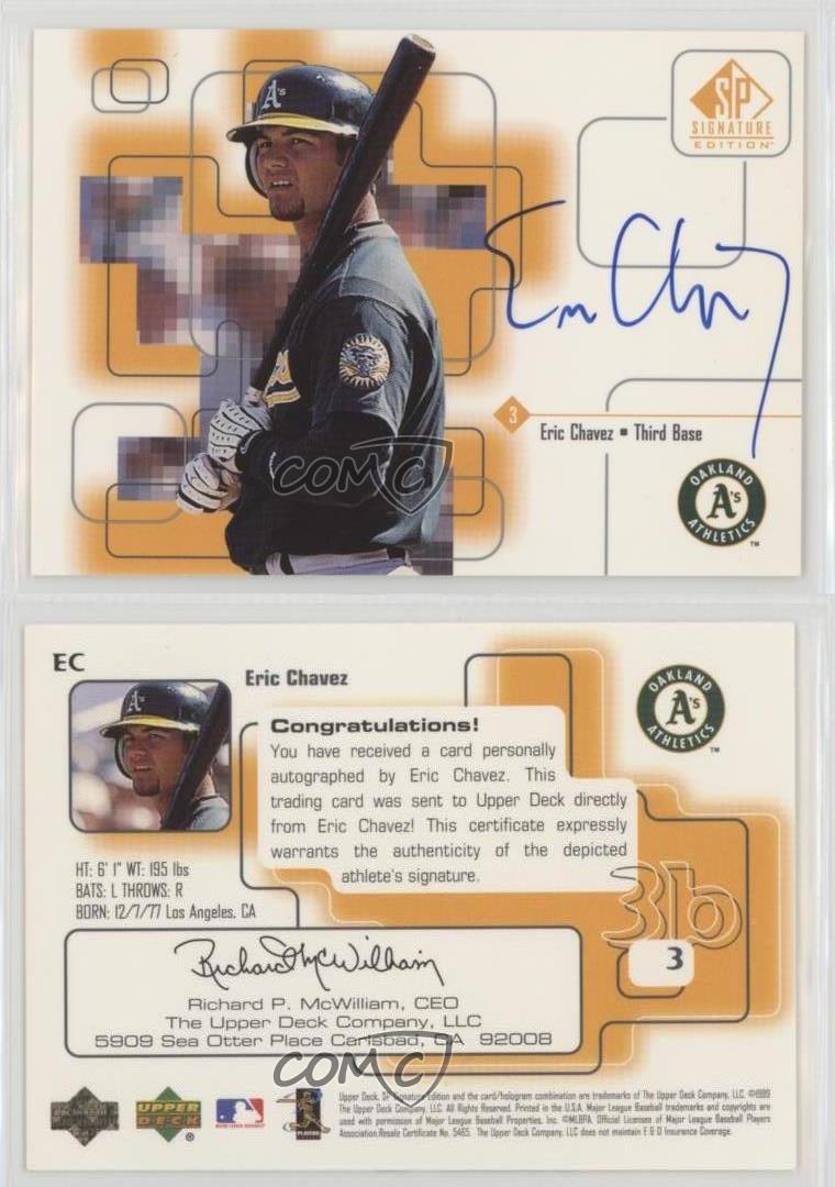 1999 Sp Signature Edition Autographs Ec Eric Chavez Oakland