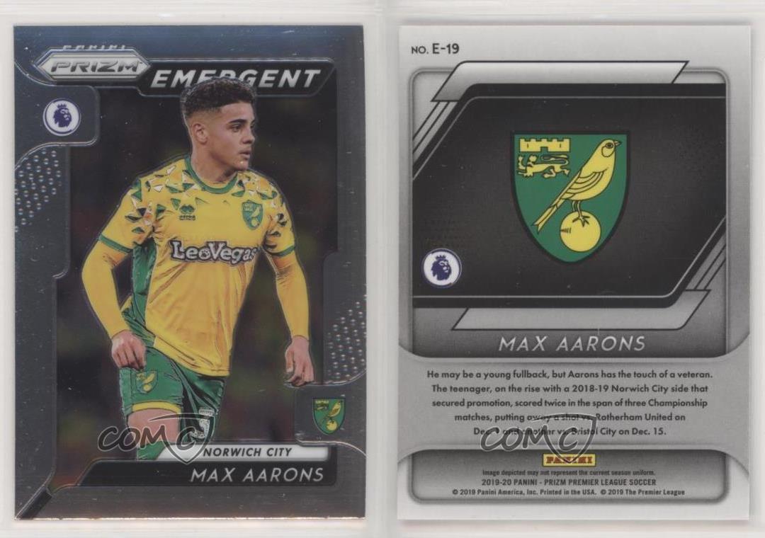 Max Aarons RC Rookie Panini Prizm English Premier League 2019-20 Norwich City