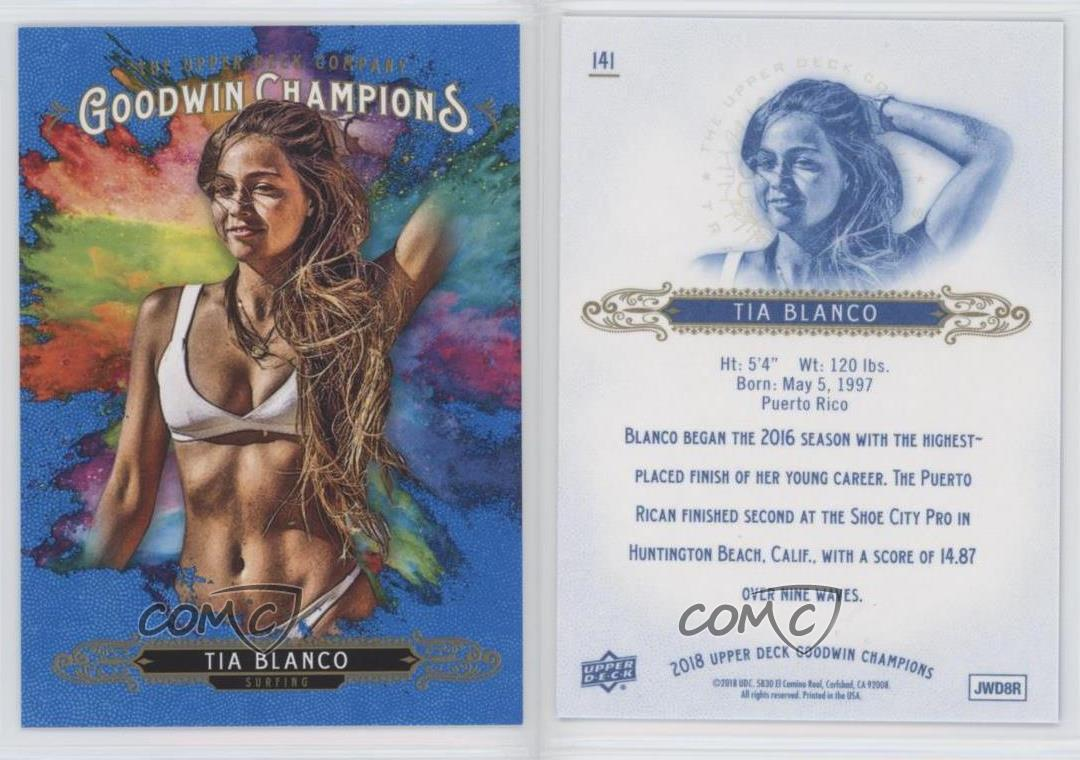 2018 Upper Deck Goodwin Champions Goudey Royal Blue #G5 Tia Blanco Card