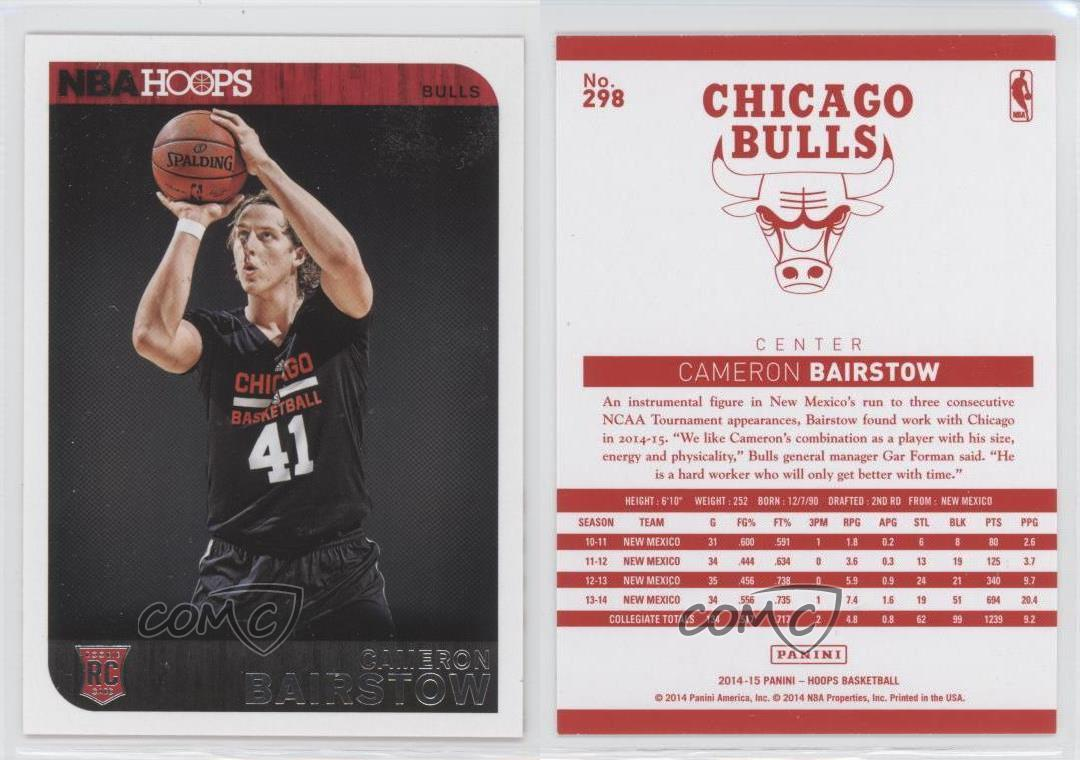 2014-15-NBA-Hoops-Red-Back-298-Cameron-Bairstow-Chicago-Bulls-Basketball-Card