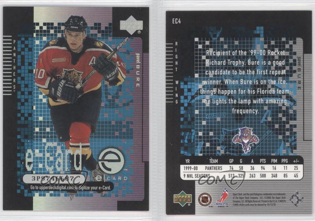 2000-01-Upper-Deck-e-Cards-EC4-Pavel-Bure-Florida-Panthers-Hockey-Card