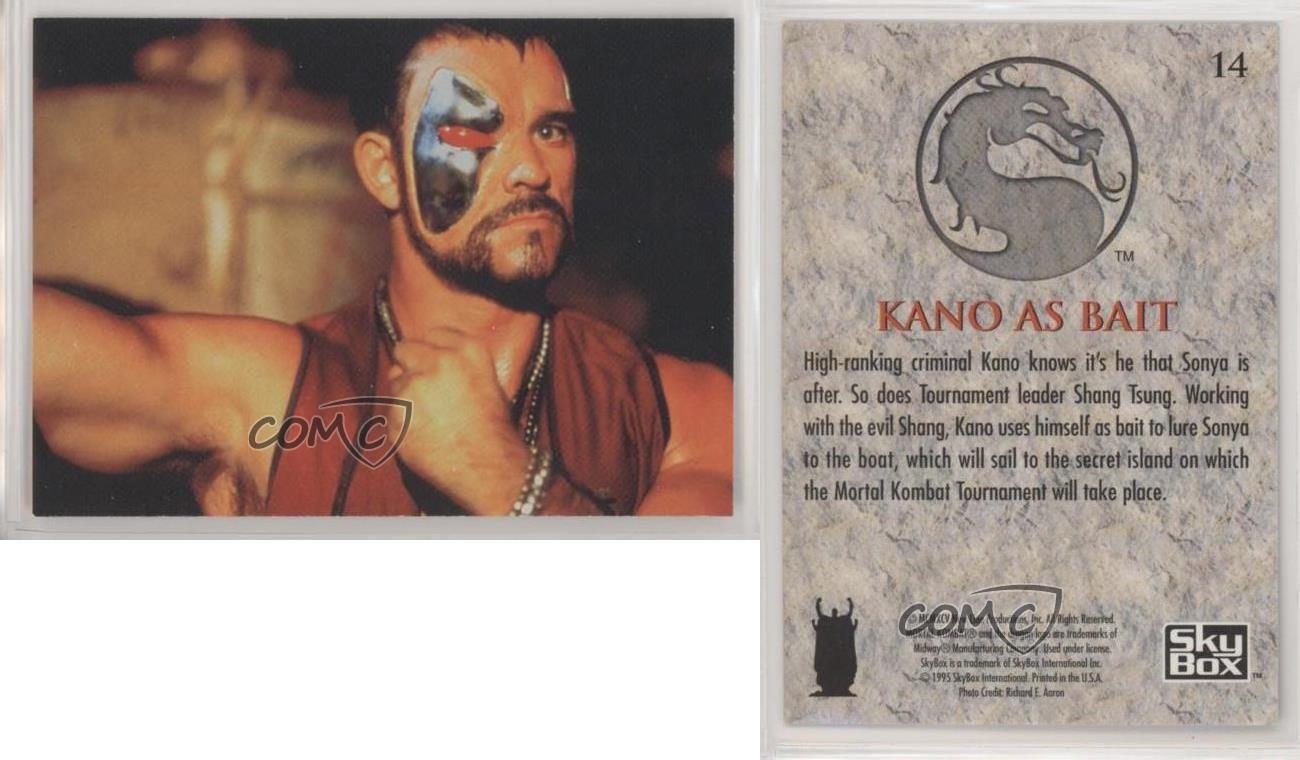 1995 Skybox Mortal Kombat Movie Kano As Bait 14 2rz Ebay