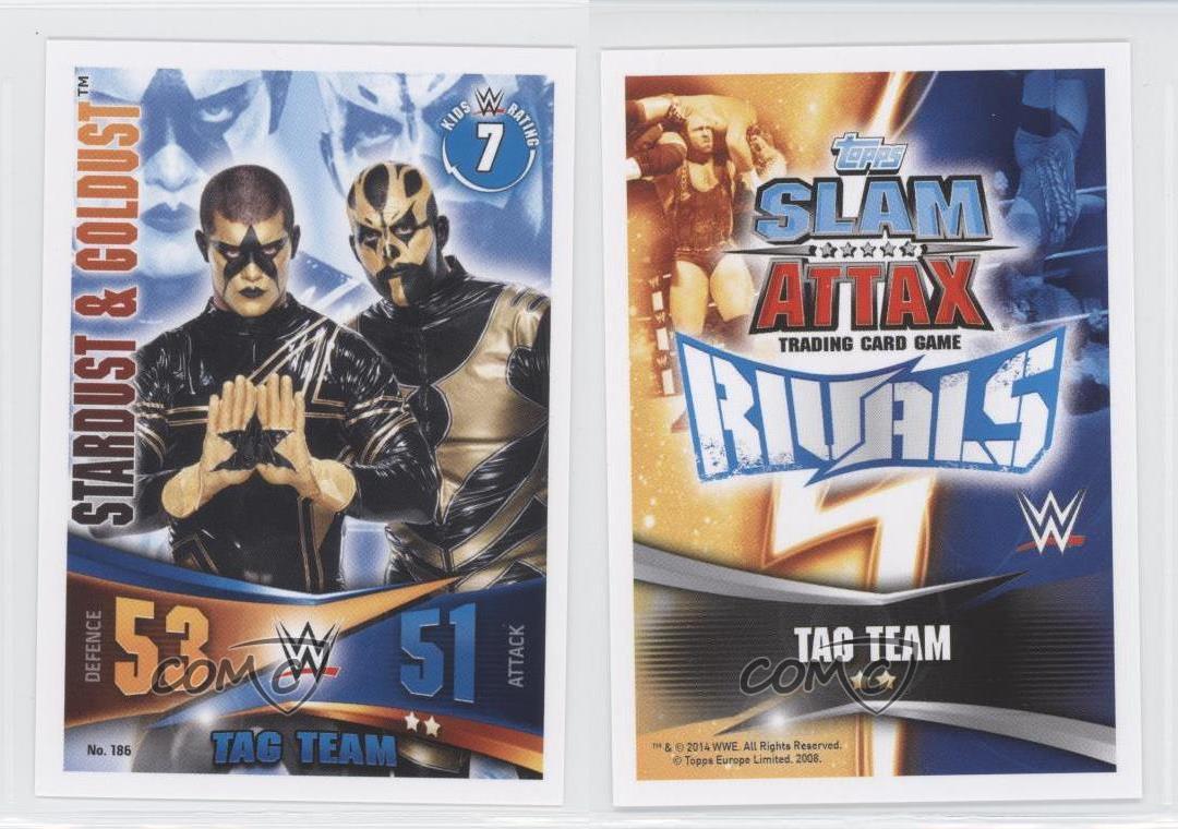 #186 stardust /& Goldust Slam ATTAX rivals