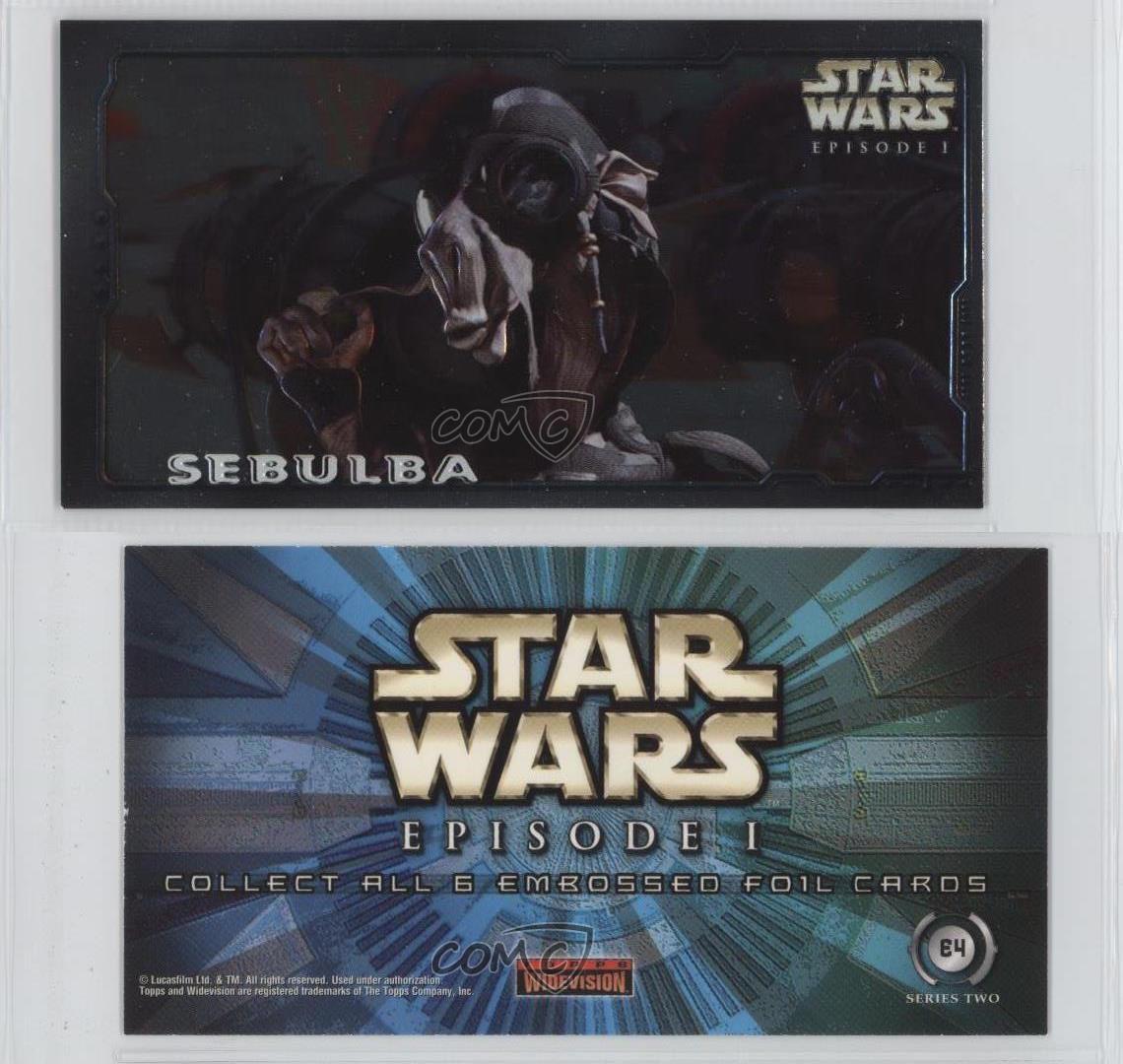 "Star Wars Episode 1 Series 2 The Phantom Menace /""Embossed Foil/"" Card Selection"