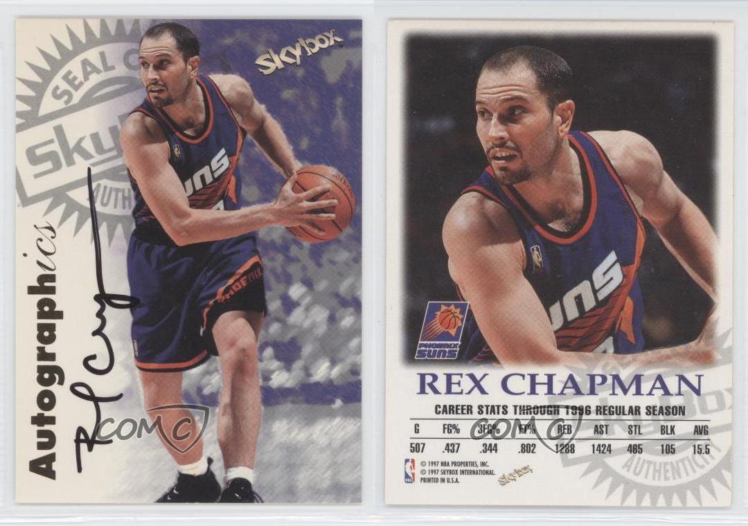 1997 Skybox Premium Autographics Autographed RECH Rex Chapman