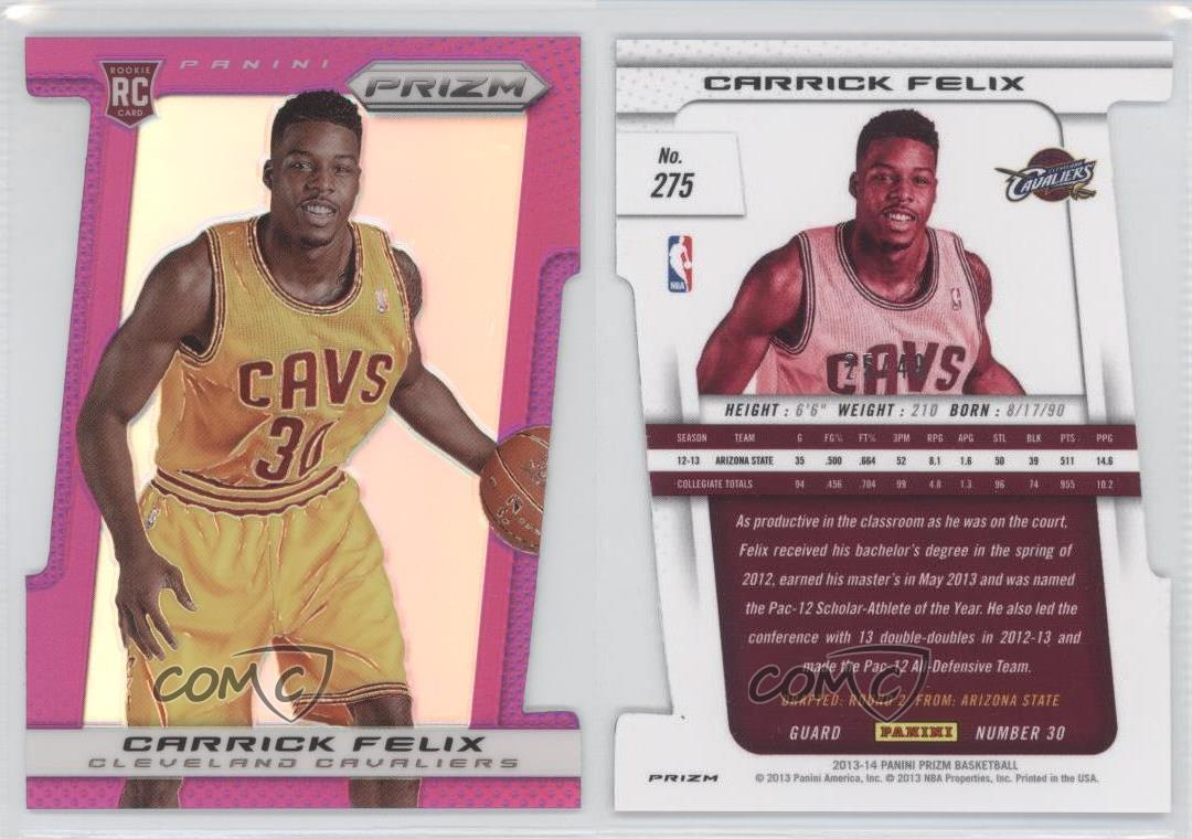 2013-14-Panini-Prizm-Purple-Prizms-Die-Cut-275-Carrick-Felix-Cleveland-Cavaliers