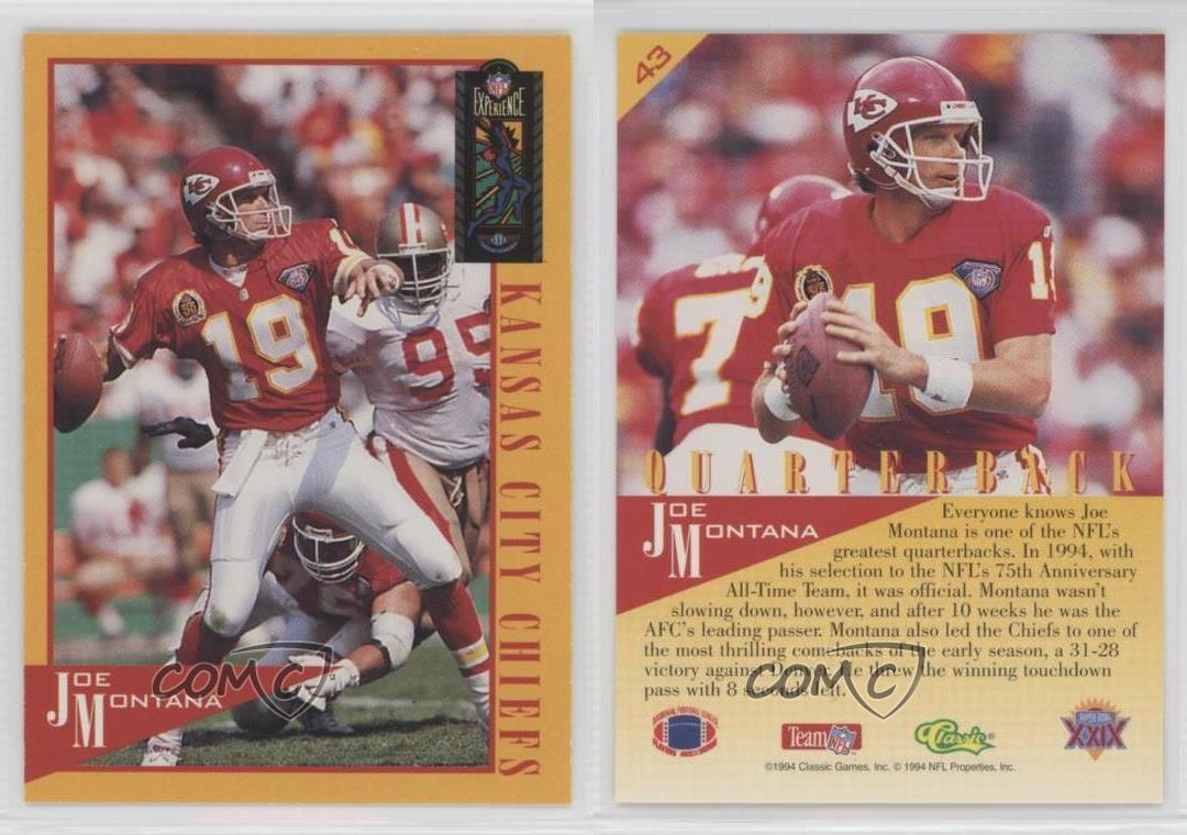 1995-Classic-NFL-Experience-43-Joe-Montana-Kansas-