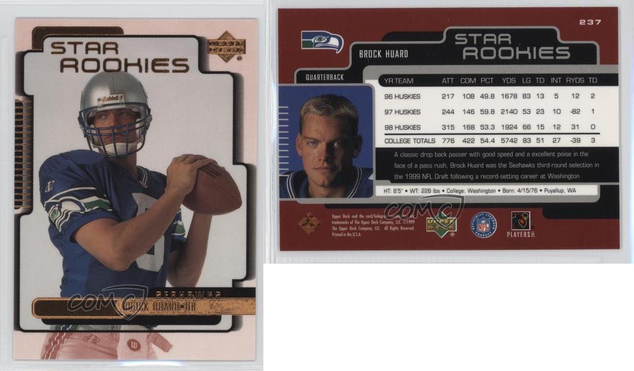 1999-Upper-Deck-237-Brock-Huard-Seattle-Seahawks-RC-Rookie-Football-Card