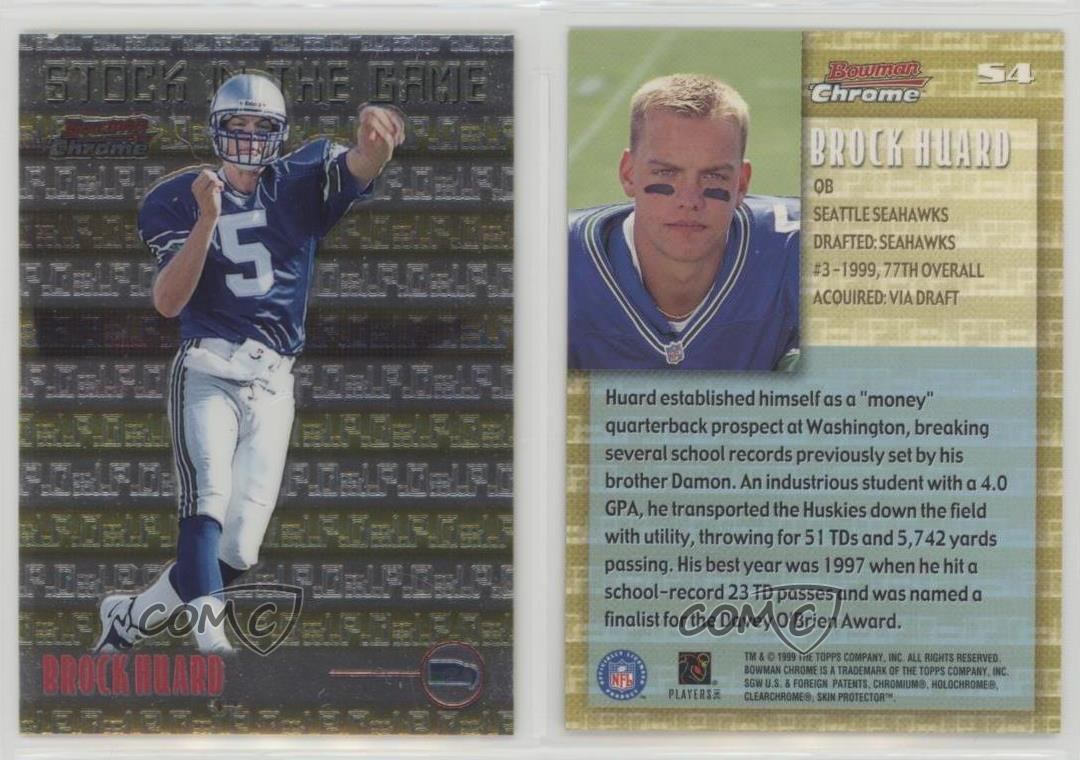 1999-Bowman-Chrome-Stock-in-the-Game-S4-Brock-Huard-Seattle-Seahawks-Rookie-Card