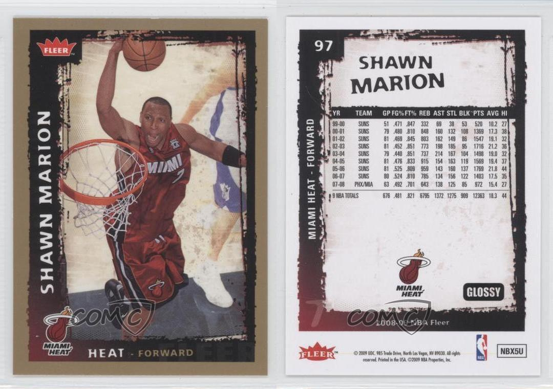 2008-09-Fleer-Glossy-97-Shawn-Marion-Miami-Heat-Basketball-Card
