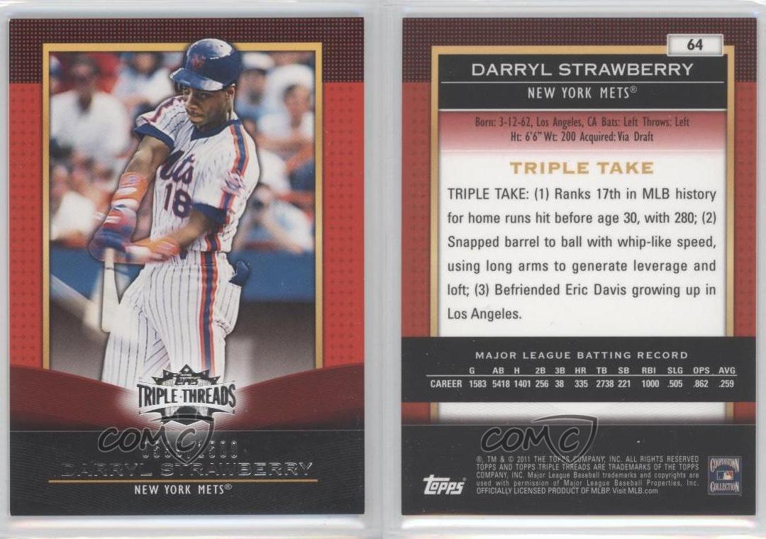 2011 Topps Triple Threads 64 Darryl Strawberry New York